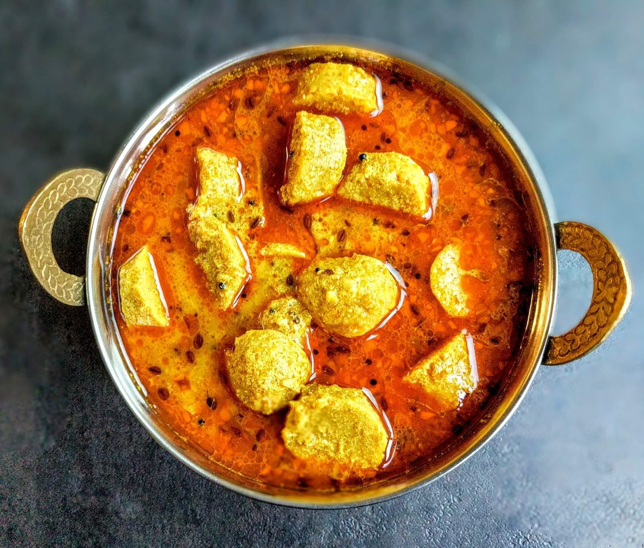 Gatte ki sabzi recipe step by step instructions