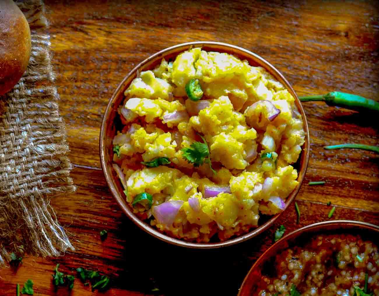 Bihari style aloo ka chokha vegetarian recipe 1